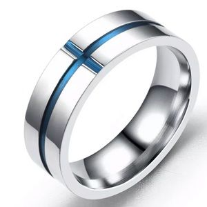 Other - 6MM Engraved Men's Stainless Steel Wedding Band